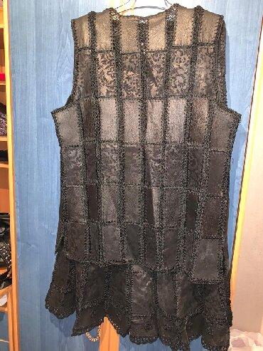 юбка в паетках в Кыргызстан: Юбка и жилетка кожаная Б. У. 46 48 рр на юбке замочек сломан. Торг С