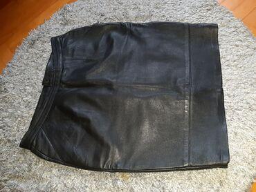 Crna kožna suknjica potpuno nova