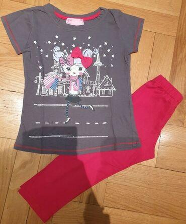 Emily preslatka siva majica sa likom devojcice i velikom crvenom