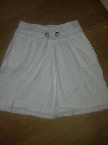 Suknja M jako ĺepa pamuk prijatna za nosenje bela kao nova - Prokuplje
