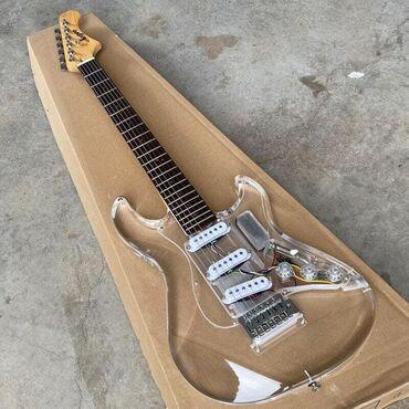 NEW Acepro LED Light Electric Guitar Acrylic Body Colorful LED