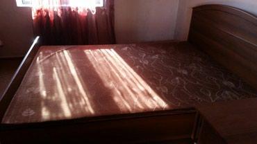 Двуспальная кровать с 2мя тумбочками, в Кара-Суу