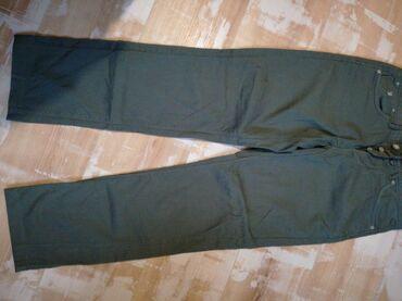 Pink jeans farmerke - Srbija: Jaggy farmerke, maslenisto zelene boje, 97 cotton, 3 %elastin. Br