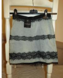 Teksas suknja - Srbija: TOPSHOP teksas suknja sa cipkom 34velTOPSHOP teksas suknjica XS