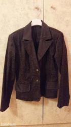 Zenski stofani vuneni mantic tsmno braon - Srbija: Zenski sako, braon boje, 38 broj