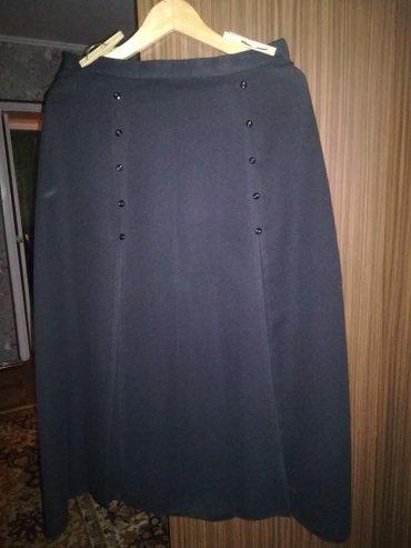 Юбка с подкладкой черная размер 48 в Бишкек