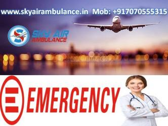 Sky Air Ambulance from Ranchi with Helpful Medical Services in Kamalamai
