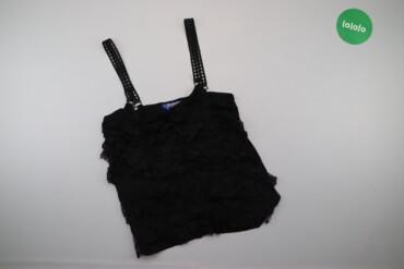 Жіноча ажурна майка-блуза на бретелях Jennyfer, p. M    Довжина: 58 см