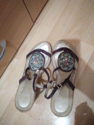 Snizeno! Keys sandale na platformu br. 40. Nosene, ocuvane. Visina