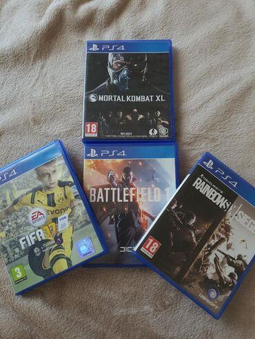 ps4 oyunlari - Azərbaycan: Ps4 oyunlari. Mortal kombat xl Fifa17 Battlefield1 Rainbowsixsiege