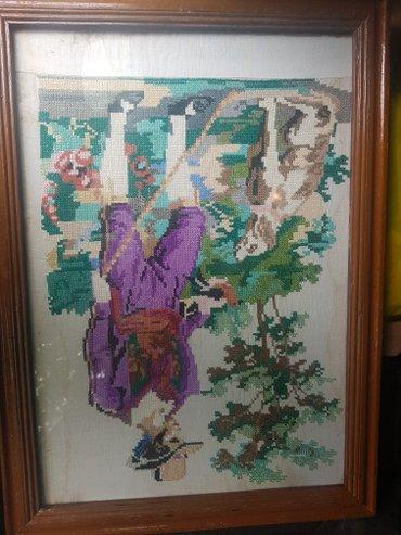 Старинная картинка(вышивка) около 100 лет в Бишкек