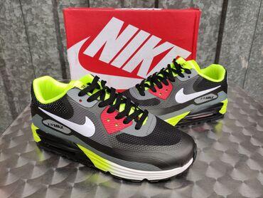 Nike Air Max 90 Lunar Black/Fluorescent Green Nike Pack41-46   Patike