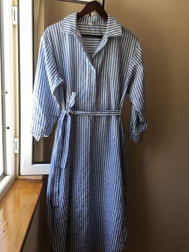 платье для кормящих в Кыргызстан: Платье рубашка, отлично подойдёт также для беременных и кормящих. Ткан
