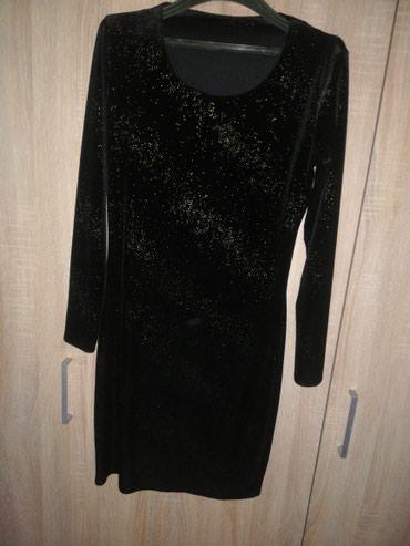 Crna uska haljina sa dugim rukavima - Kragujevac