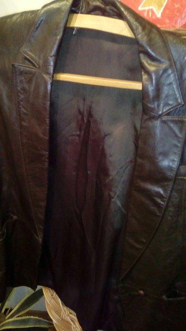 Ženska odeća | Smederevo: Tamno braon kožni komplet, sako i suknja, očuvan br, 36, 38, bez