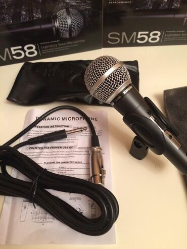 Mikrafon SM58 Teze say choxdur buyurun