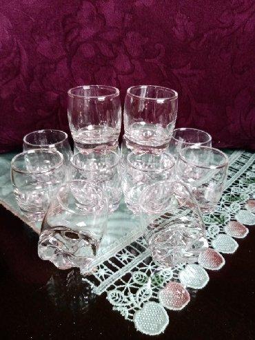 Čaše za piće - Srbija: Case nove za zestoko pice 12kom. Visina. 6cm. precnik otvora