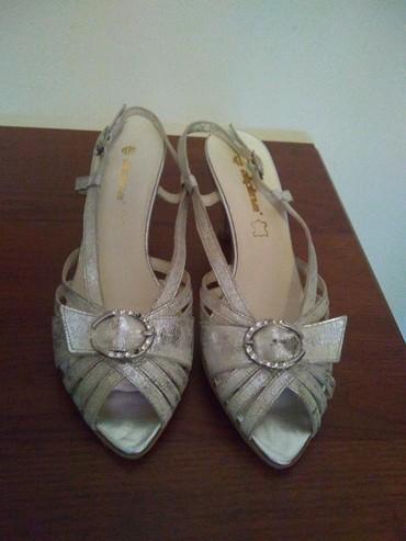 Sandale kožne nove, srebrno dizajnirane br. 37,5. Cena 750,00 din. - Crvenka