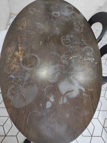 биндеры 160 листов для дома в Кыргызстан: Продается только стол размер 160 на 100 овальный цена