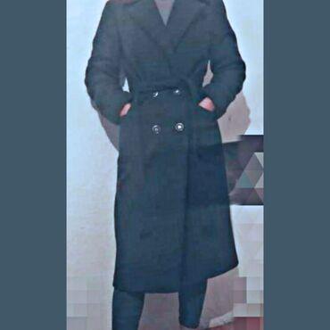 Серое, теплое, плотное пальто на осень - зима!!!!!! 42-44 размер!!!