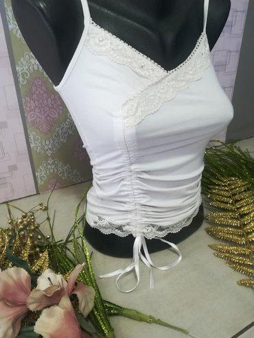 Majica sa čipkom Prelep model Pamuk elastin Vel S