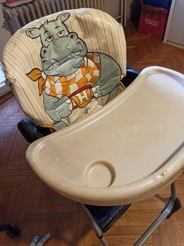 Stolica za hranjenje - Srbija: Stolica za hranjenje Chicco. Ima pojaseve za vezivanje. 3polazaja