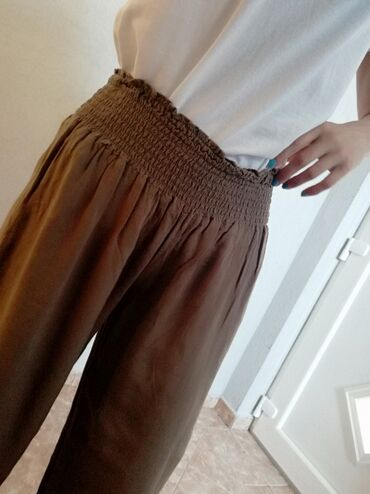 Pantalone 7 /8, braon, okay, noveVel s /m. Saljem post expresom