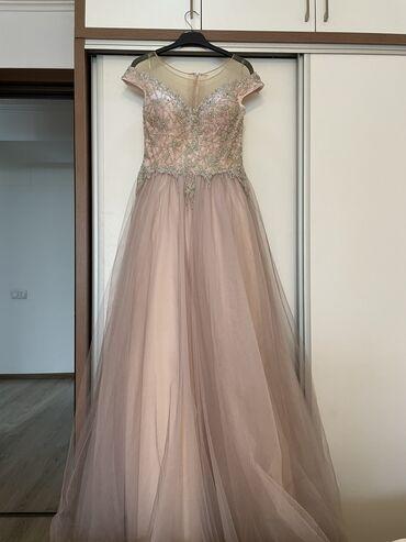 Продаю вечернее платье Cosmobella, цвет пыльная роза, со шлейфом