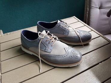 Kozne cipele - Srbija: Sive kozne cipele, samo jednom nosene, br44