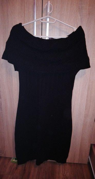 Crna dzemper haljina sa kratkim rukavima. Moze i na ramenima da se - Smederevska Palanka