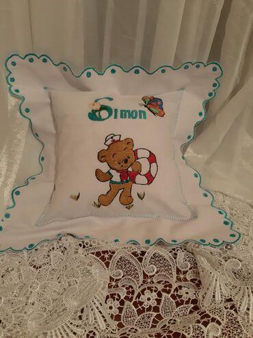   Stara Pazova: Dečiji ukrasni jastuci sa vezom po želji punjenje 30x30cm