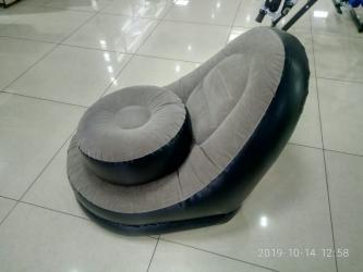 dva divan kresla в Кыргызстан: Надувной диван с подушкой для ног
