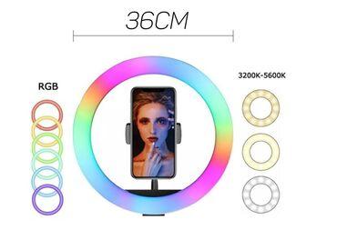 RGB кольцевая лампа 36 смс 2 метровым штативомКраткое