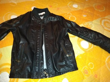 Dečija odeća i obuća - Knjazevac: Kožna jakna za dečake vel116(5-6god.) HM bez ostecenja. obučena 3