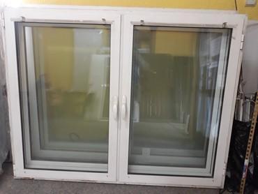 Polovni Al.prozori dvokrilni sa fixnom preckom po sredini hladan - Vrsac