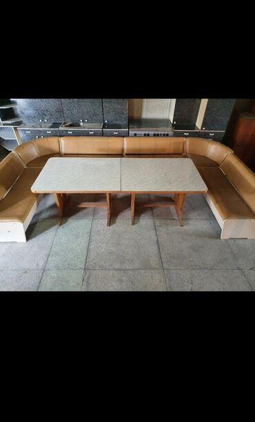 т т к н 2 класс в Кыргызстан: Срочно продаю кухонный уголок со столом хорошего качества 4,2