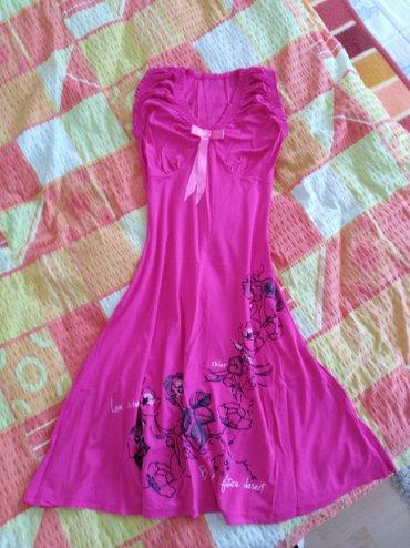 Haljina Divna pamučna, sa elastinom, ciklama boje, vel. L - Plandište