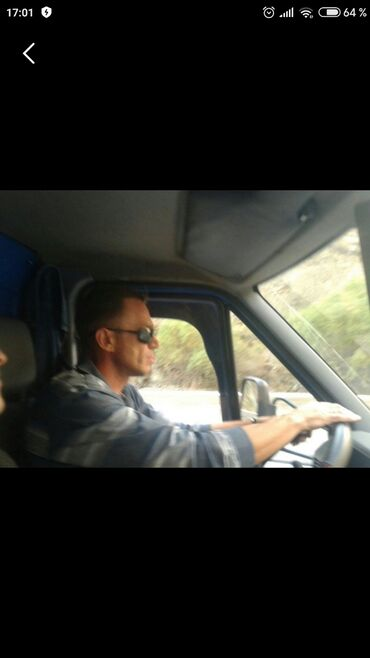Водитель-европеец 47 лет, кат.Всд, стаж 29 лет ищет работу водителя на