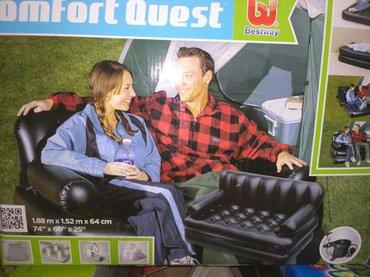 уголок диван трансформер в Кыргызстан: Надувной диван трансформер размер: 188*152*64