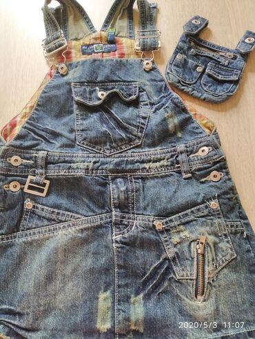 Сарафан джинсовый (фирменный) на девочку 5-6 летВ идеальном
