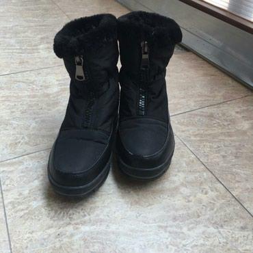 детские термо сапоги в Азербайджан: Чёрные тёплые сапоги 36 размер ( в хорошем состоянии)