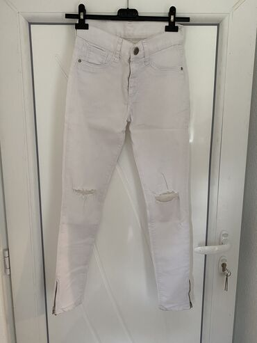 Bele plitke pantalone, veličina 28