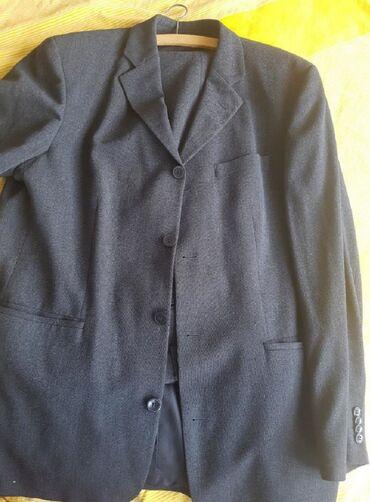 Baggy siva rolka kaschmir vuna - Srbija: Hugo Boss odelo,čista vuna,novo