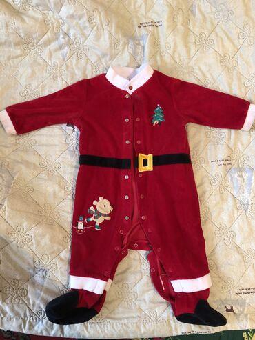 Костюм детский Санты 65-70 см. Одевали один раз на Новый год. Санта Кл