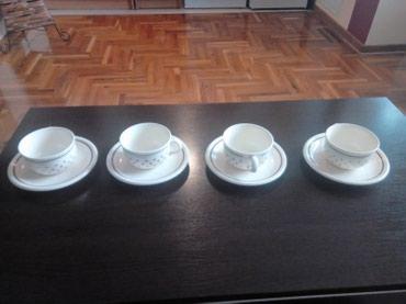 Veoma ocuvane prelepe porcelanske tufnaste krem boje solje za kafu - Kragujevac