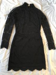 Nova haljina, velicina s. Rukavi providni. Pozadi otvor na ledjima, - Uzice