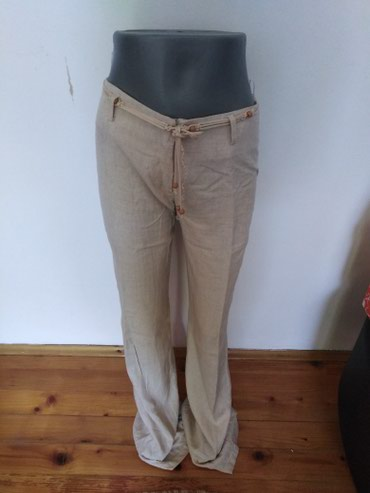 Lanene pantalone, br 38.Boja bele kafe. Moguća dostava u Bg - u - Petrovac na Mlavi