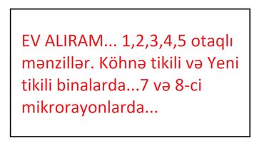 Куплю - Азербайджан: EV ALIRAM. 1,2,3,4,5 otaqlı mənzillər. Köhnə tikili və Yeni tikili