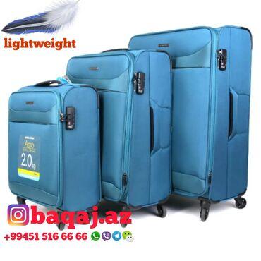 Личные вещи - Сангачалы: Yungul cekili camadanlar Лёгкие чемоданы 180азн 230азн 290азн