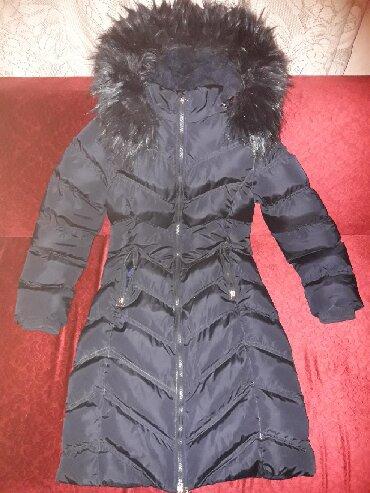 Zimske-jakne - Srbija: Polovna teget zenska zimska jakna jako lepo ocuvana, veoma topla i